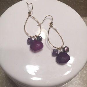 Jewelry - Purple gemstone earrings